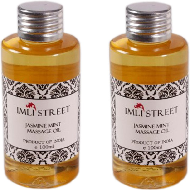 Imli Street Jasmine & Mint Massage Oil (Pack of 2)(200 ml)