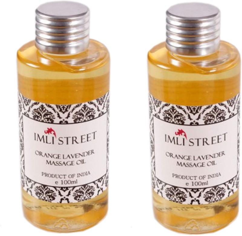 Imli Street Orange & Lavender Massage Oil (Pack of 2)(200 ml)