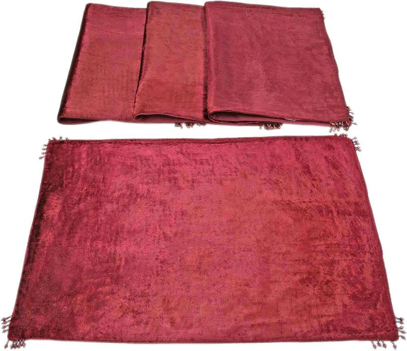 Sriam Rayon Prayer Mat(Red, Medium)