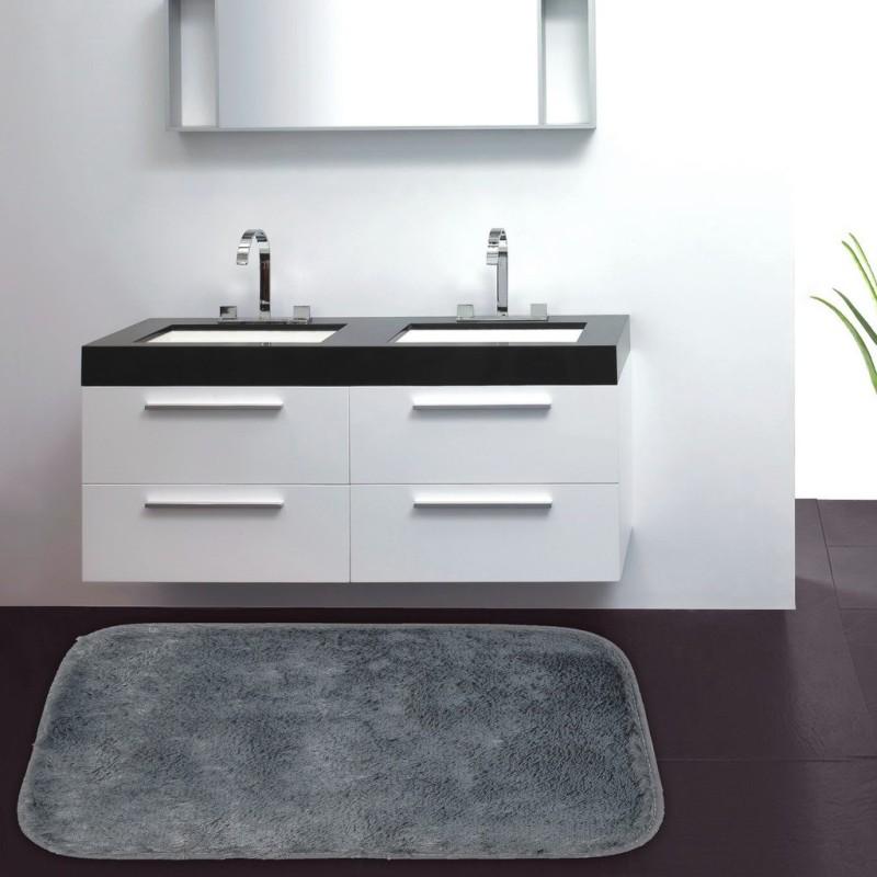 Cortina Microfiber Bathroom Mat(Multicolor, Large)