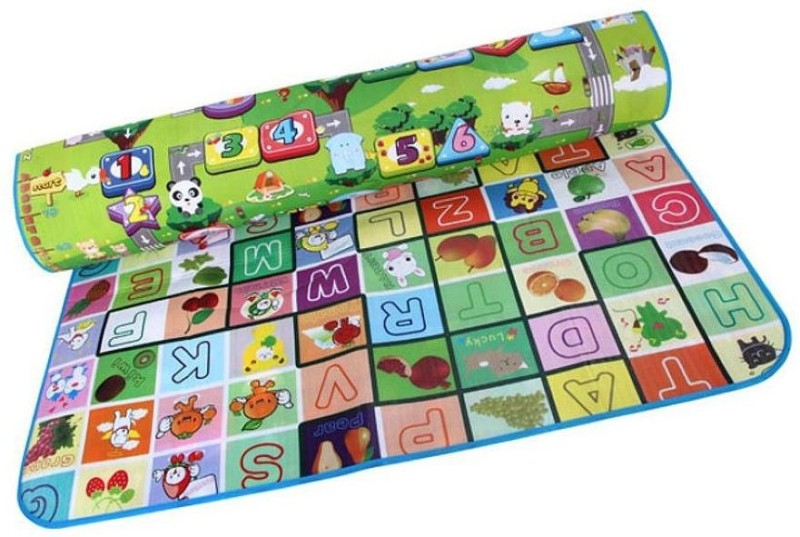 Arow Polyester Baby Play Mat(Multicolor, Large)