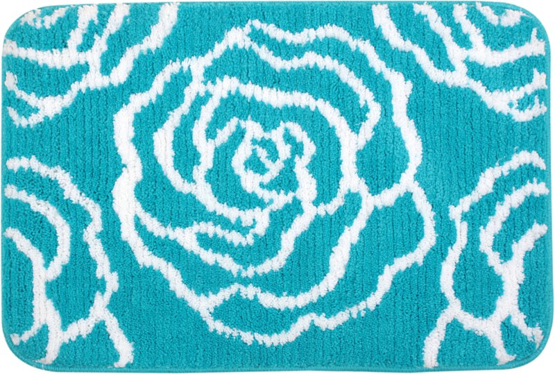 Saral Home Polyester Bathroom Mat(Turquoise, Medium)