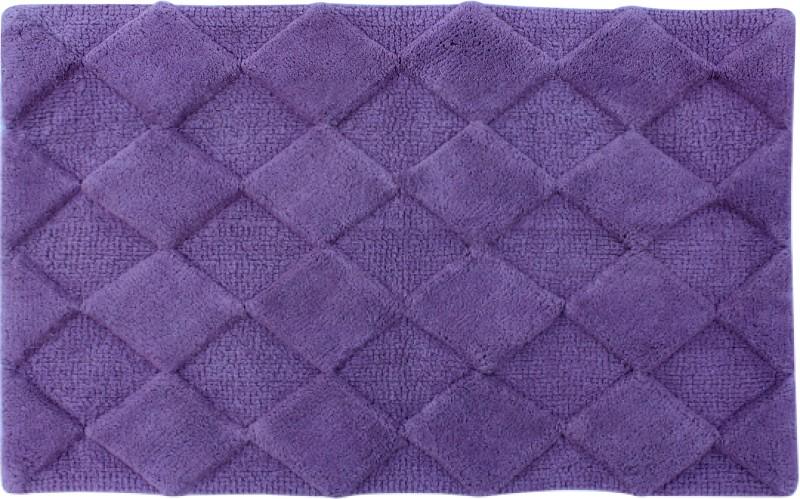 Azaani Cotton Bathroom Mat(Purple, Extra Large)