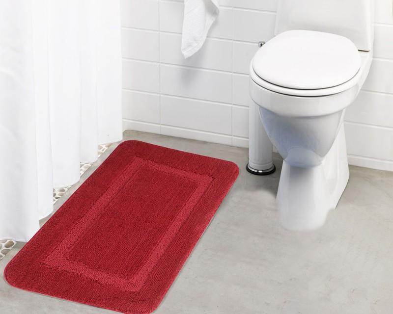 Lushomes Microfiber Bathroom Mat(Red, Medium)
