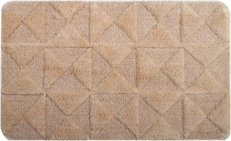 Saral Home Cotton Bathroom Mat(Beige, Medium)