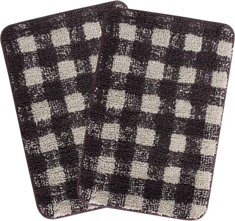 Saral Home Cotton Bathroom Mat(Brown, Medium)