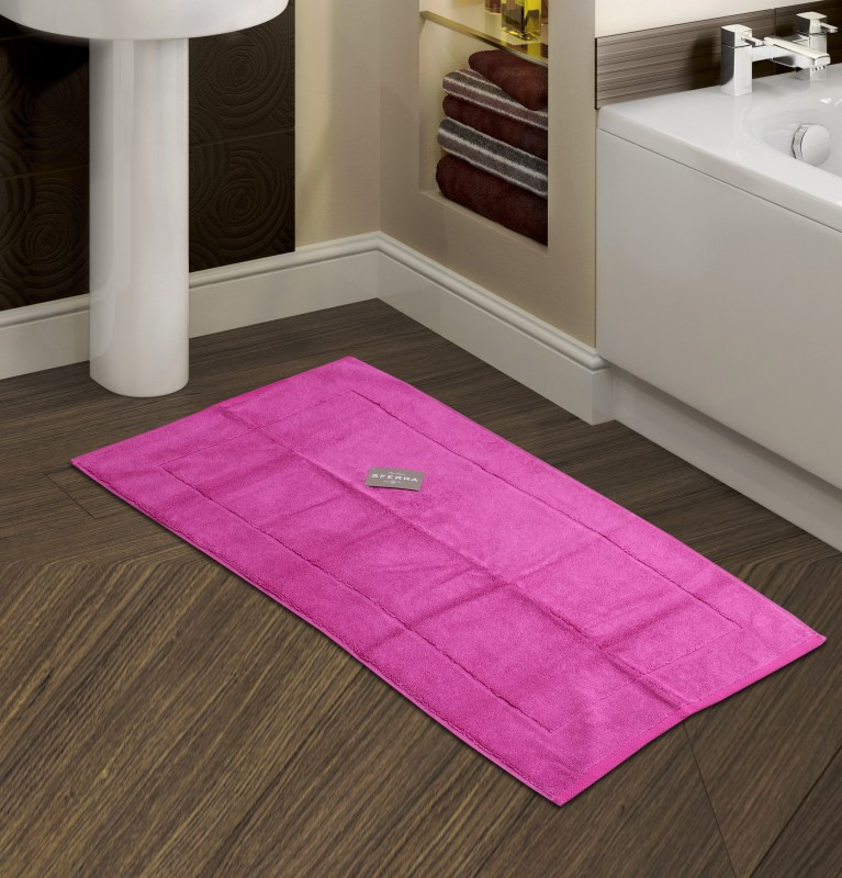 Sferra Cotton Bathroom Mat(Fuchsia, Medium)