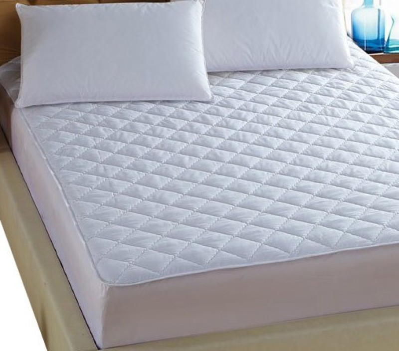 KF Fitted Queen Size Waterproof Mattress Protector(White)