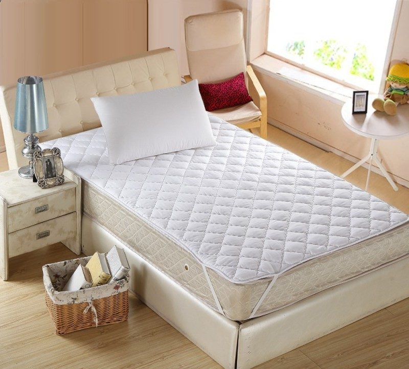 Home Originals Elastic Strap Single Size Waterproof Mattress Protector(White)