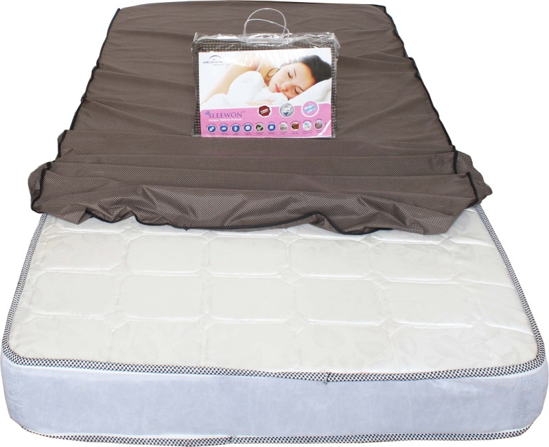 Dream Care Elastic Strap Twin Size Mattress Protector(Beige)