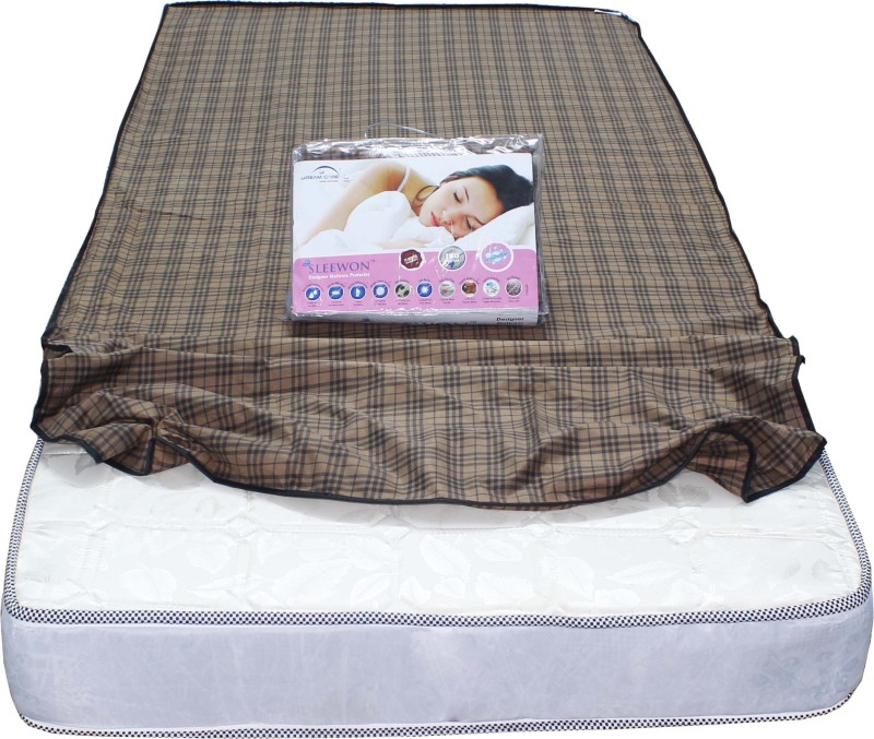 Dream Care Elastic Strap King Size Mattress Protector(Brown)