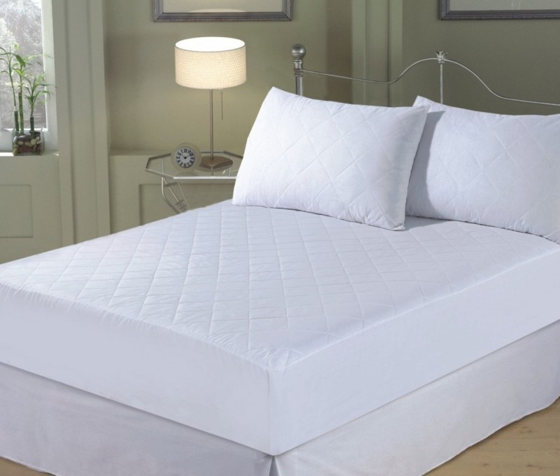 Adithya Fitted King Size Waterproof Mattress Protector(White)