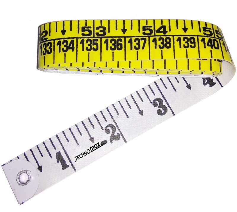 Techno Max Sewing Measuring Ruler Extra Heavy Durable Double Ink Coated Tailors Measurement Tape(1.5 Metric)
