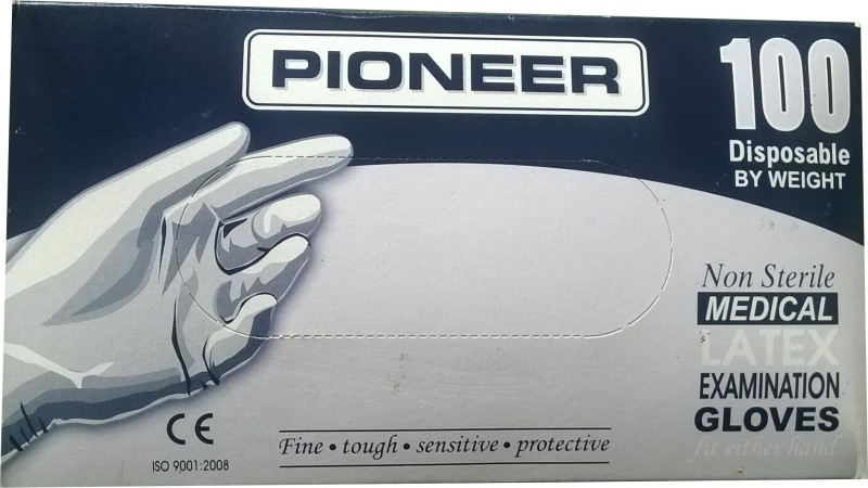 Pioneer PIO01 Latex, Rubber Examination Gloves(Pack of 100)