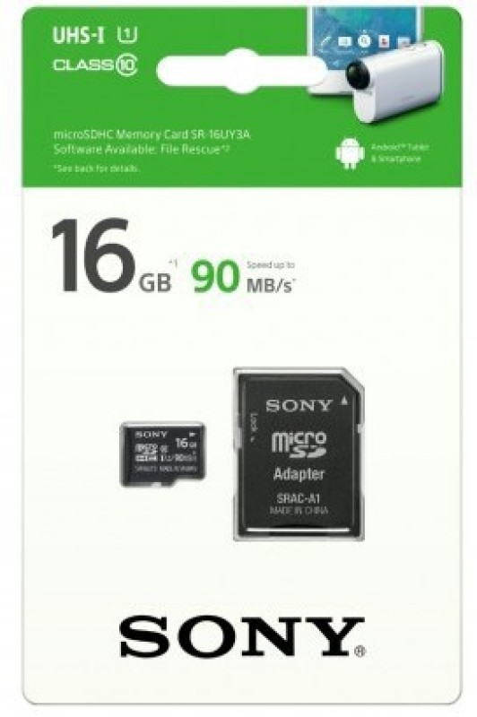 Sony SR-16UY3A 16 GB MicroSD Card Class 10 90 MB/s  Memory Card image