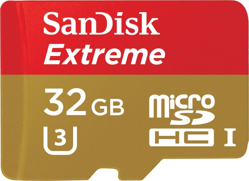 SanDisk Extreme 32 GB MicroSDHC UHS Class 3 90 MB/s Memory Card