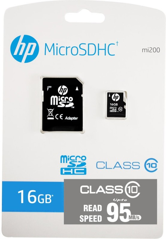 HP 16 GB MicroSDHC Class 10 95 MB/s Memory Card(With Adapter)