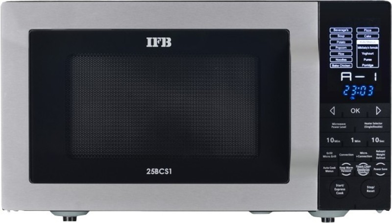 IFB 25 L Convection Microwave Oven(25BCS1, Metallic Silver)