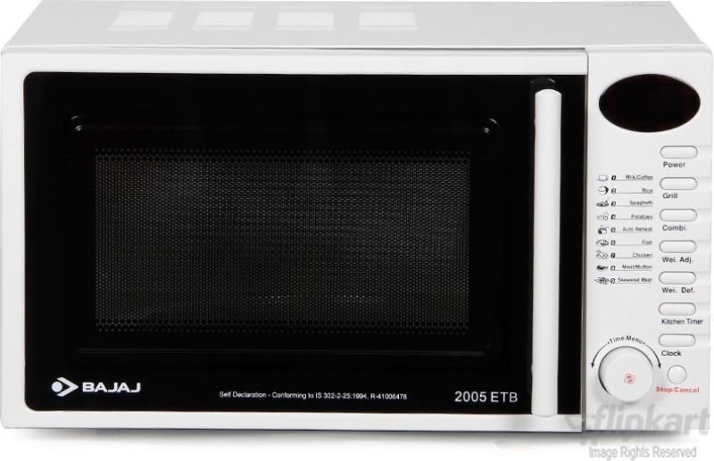 Bajaj 20 L Grill Microwave Oven(2005ETB White)
