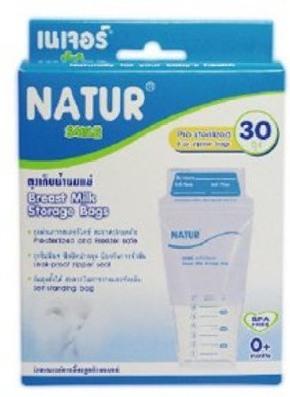Baby Bucket NATUR Breast Milk Storage Bags BPA Free(Pack of 30, White)