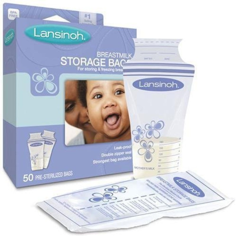Lansinoh 20435 Breastmilk Storage Bags 25 Count Boxes(White)