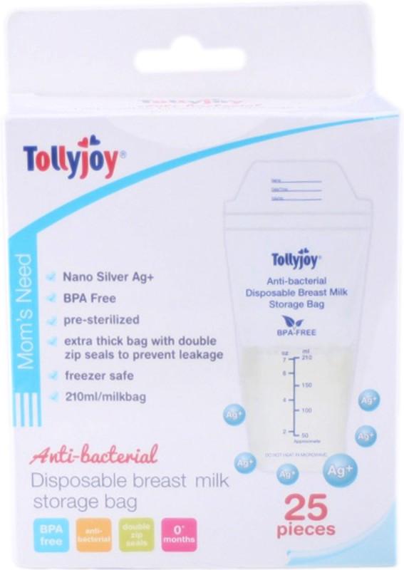 Tollyjoy Breast Milk Storage Bags~25 Pack(Pack of 1, White)