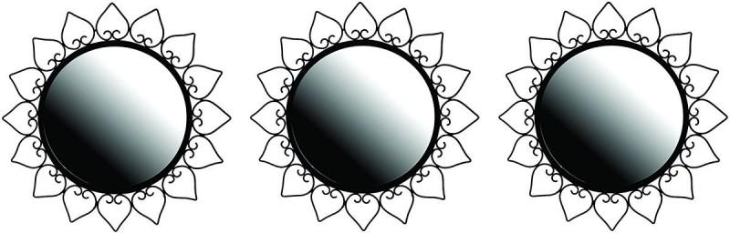 Hosley Decorative Set of 3 Wall Mirrors Decorative Mirror(Round)