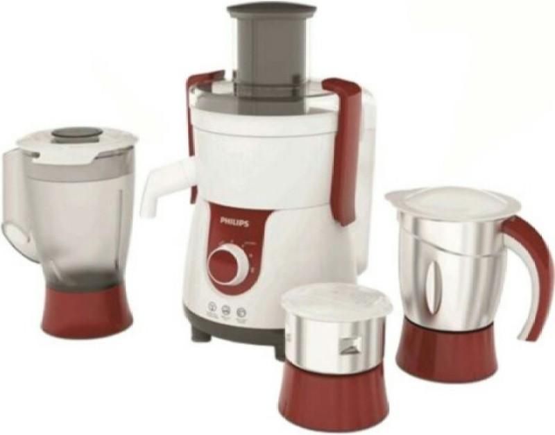 Philips pronto hl 7715 700 W Juicer Mixer Grinder(White, Red, steel, 3 Jars)