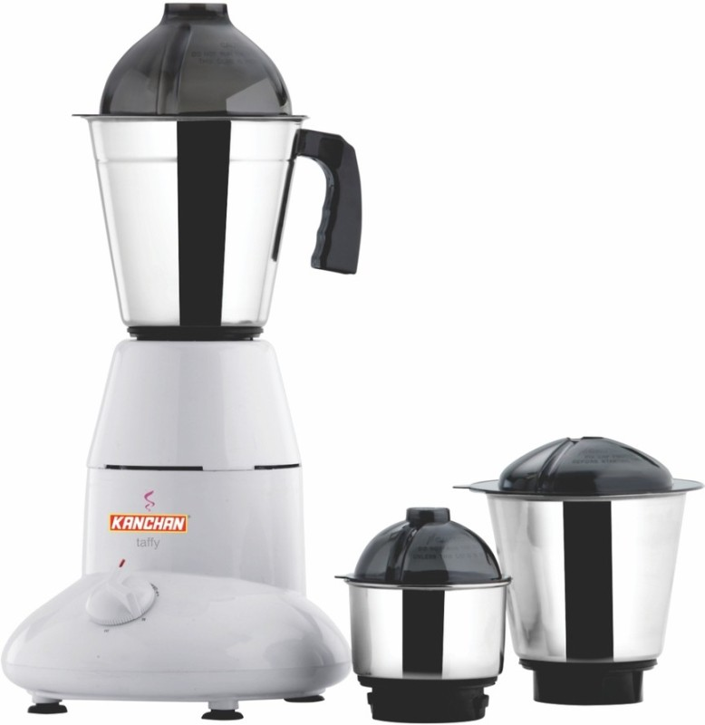 Kanchan Taffy 500 W Mixer Grinder(White, 3 Jars)