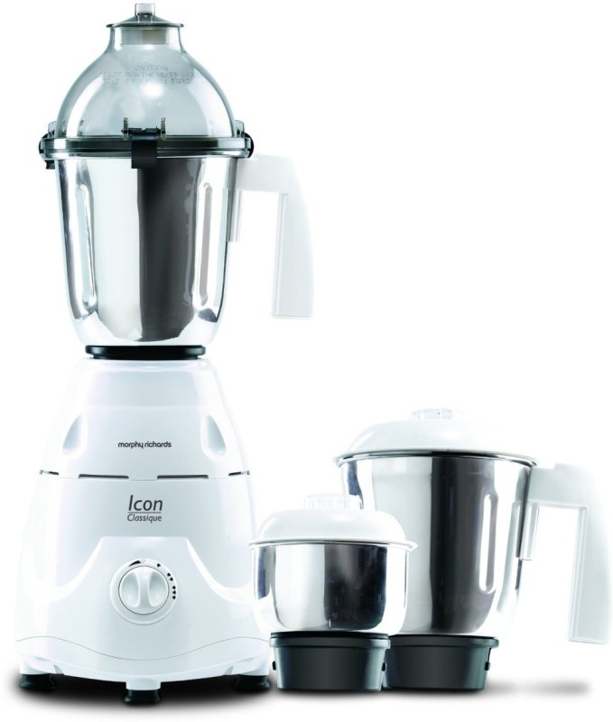Morphy Richards 640040 Icon Classique 750 W Mixer Grinder(White, 3 Jars)