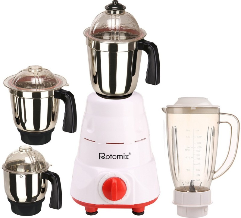 Rotomix Rotomix ABS PlasticMA16-WFJ 1000Wat 1000 W Juicer Mixer Grinder(Multicolor, 4 Jars)