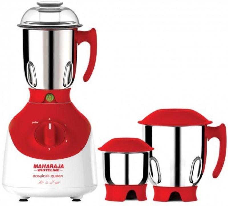 Maharaja Whiteline EASYLOCK QUEEN 750 W Mixer Grinder(Red, 3 Jars)