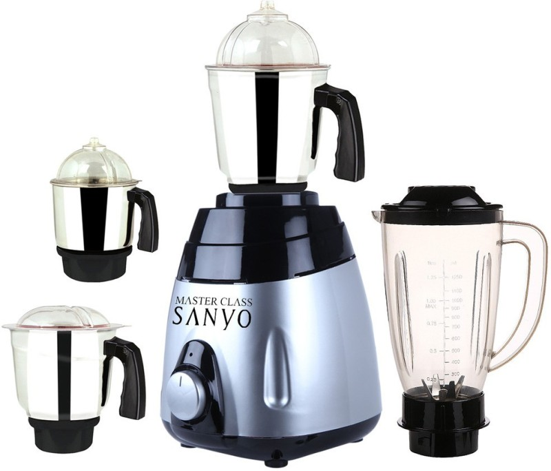MasterClass Sanyo MA ABS Body MGJ WOF 2017-45 750 W Juicer Mixer Grinder(Multicolor, 4 Jars)