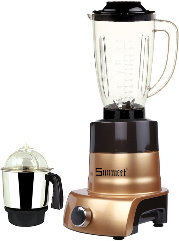 Sunmeet MA ABS Body MGJ WOF 2017-168 750 W Juicer Mixer Grinder(Gold, 2 Jars)