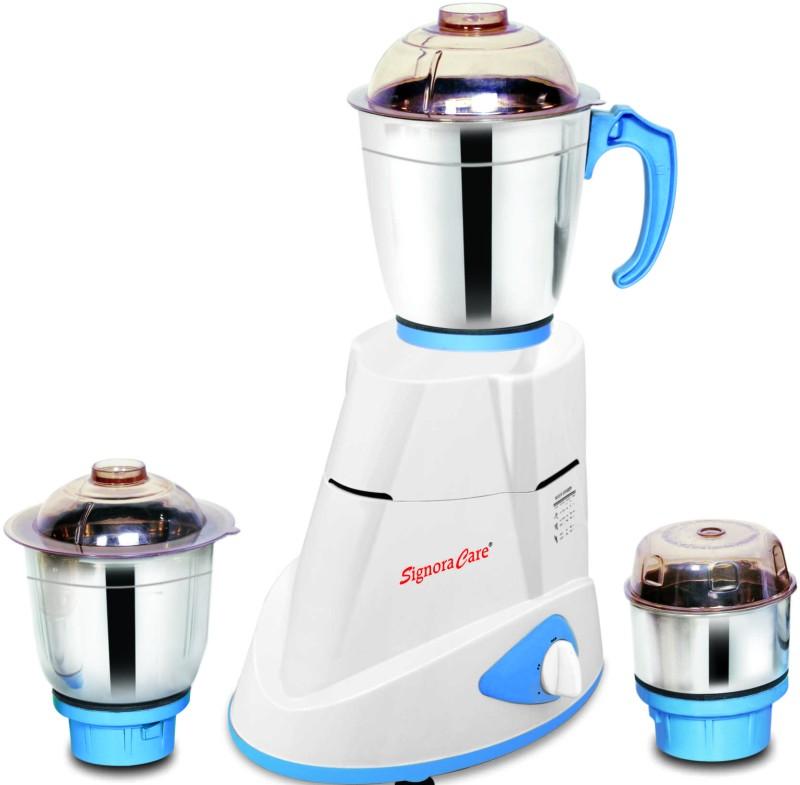 SignoraCare Maxima 750 W Mixer Grinder(White, 3 Jars)