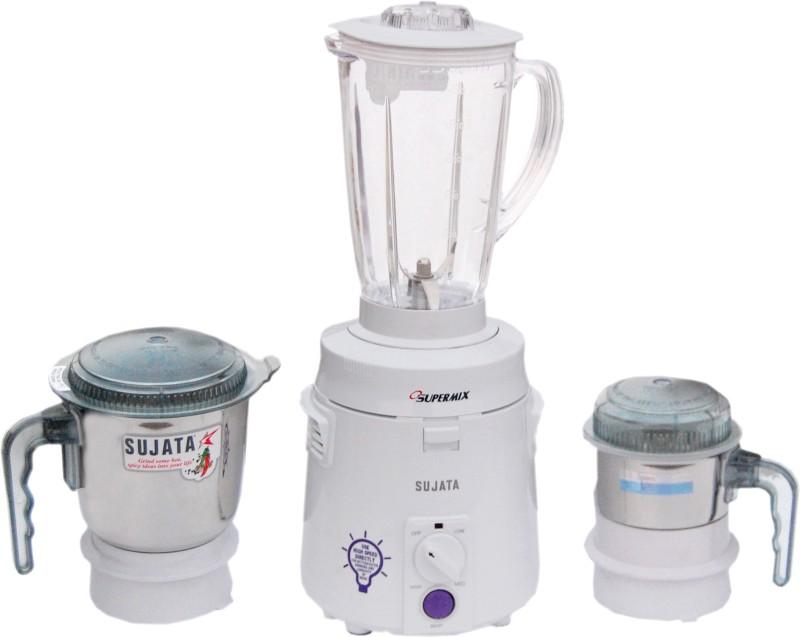 SUJATA SUPERMIX 900 W Mixer Grinder(White, 3 Jars)