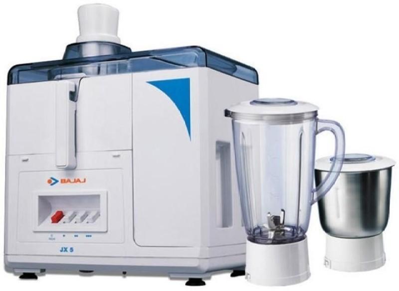 Bajaj Majesty JX5 450 W Juicer Mixer Grinder(White, 2 Jars)