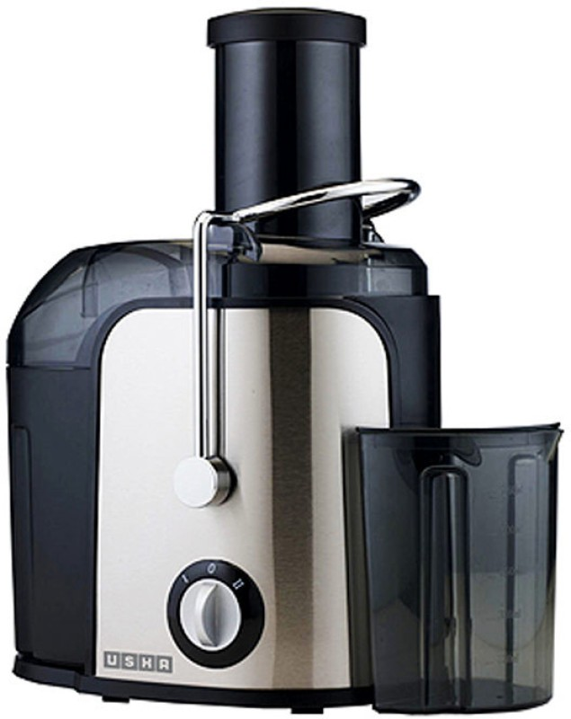 Usha JC-3260 600 W Juicer(Silver and black, 1 Jar)