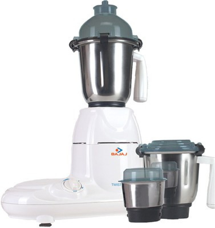 Bajaj Twister 750 W Mixer Grinder(White, 3 Jars)