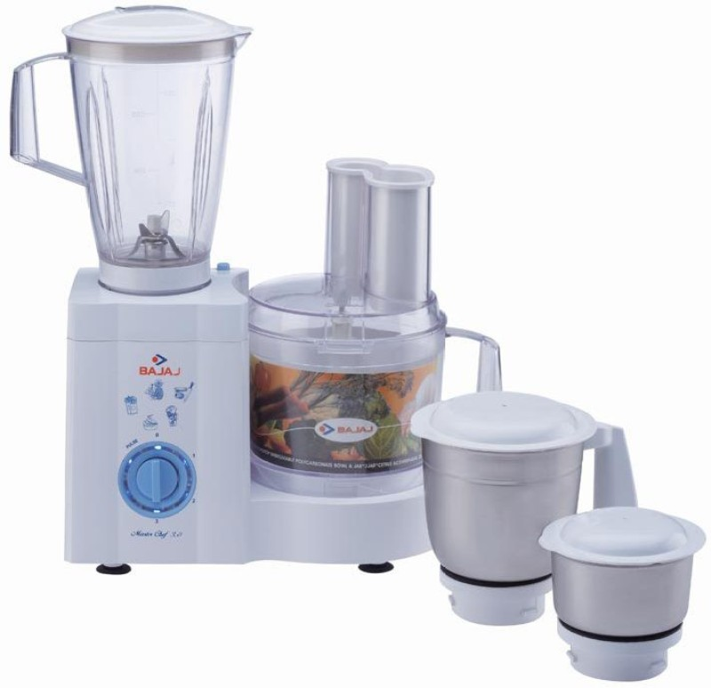 Bajaj Master Chef 3.0 600 W Juicer Mixer Grinder(White, 4 Jars)