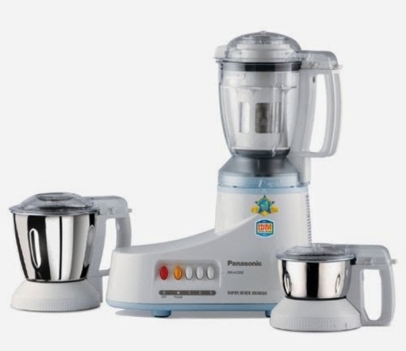 Panasonic MX-AC350 550 W Mixer Grinder(White, 3 Jars)
