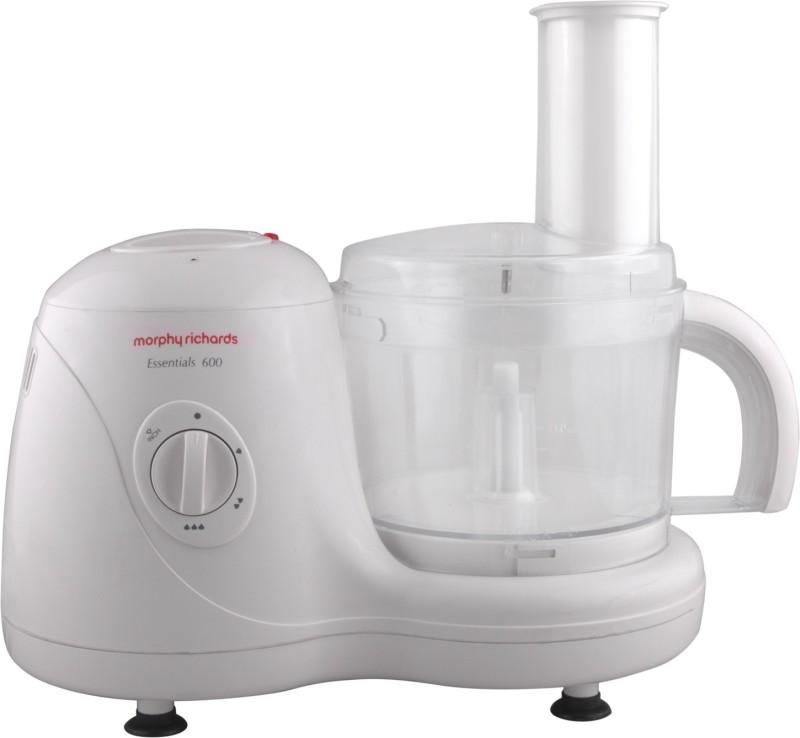 Morphy Richards Essentials 600 Food Processor 600 W Juicer Mixer Grinder(White, 4 Jars)