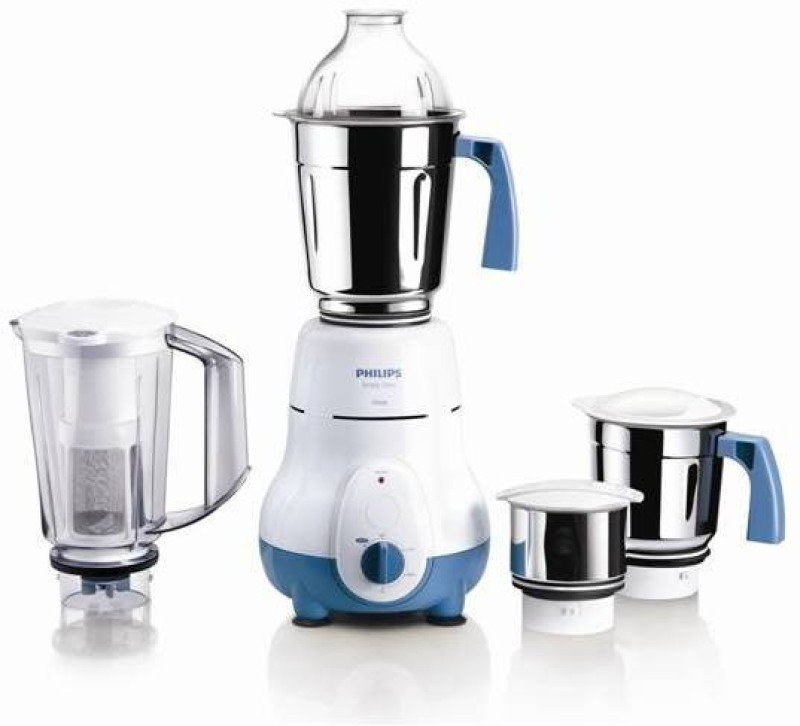 Philips HL1645/00 750 W Mixer Grinder(White, Blue, 4 Jars)