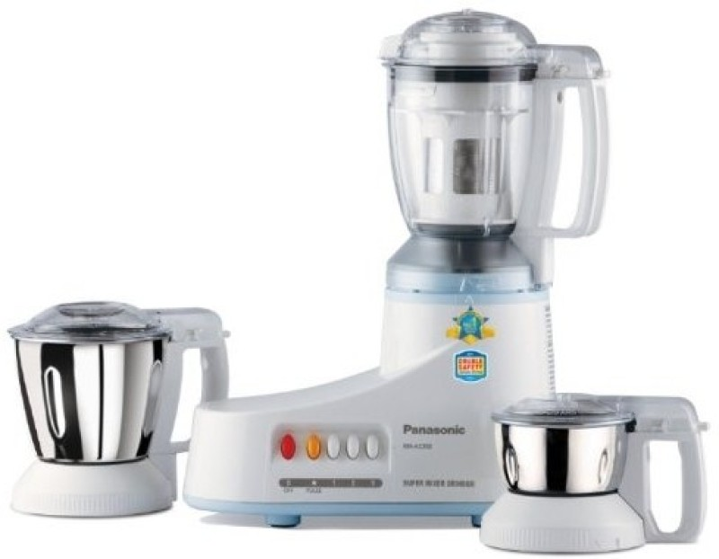 Panasonic MX-AC350 3-Jar Super 550 W Juicer Mixer Grinder(White, 3 Jars)