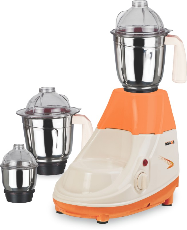 ROLLON ROLLON 01 RL1 750 W Mixer Grinder(ORANGE CREEM, 3 Jars)