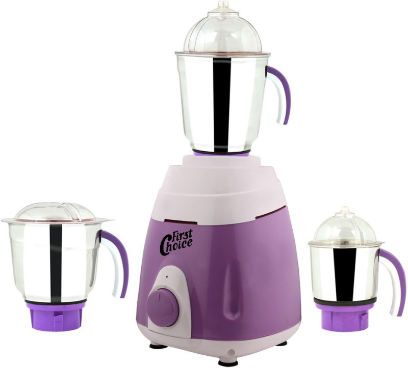 First Choice MG16-263 750 W Mixer Grinder(Purple, 3 Jars)