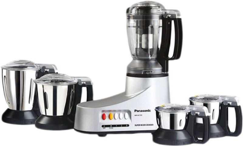 Panasonic MX-AC555 Super MIXER GRINDER 5 JARS MX-AC555 550 W Juicer Mixer Grinder(BRONZE, Black, 5 Jars)