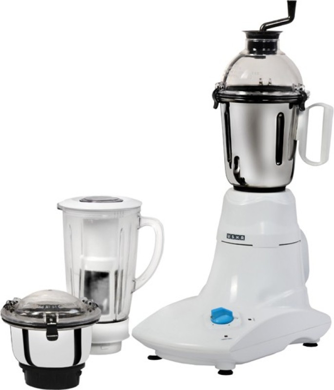 Usha MG 2573 750 W Mixer Grinder(White, 3 Jars)