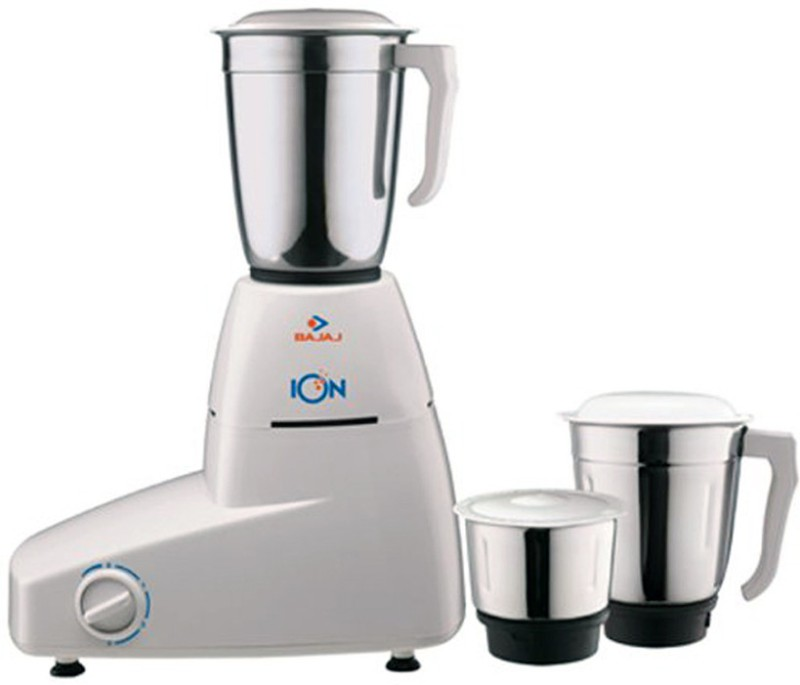 Bajaj ION 500 W Mixer Grinder(White, 3 Jars)