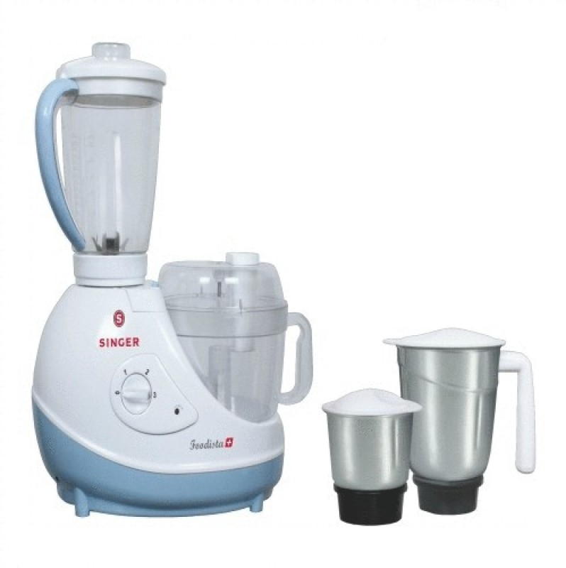Singer SFP614FBT (Foodista Plus) 600 W Food Processor(Blue & White)